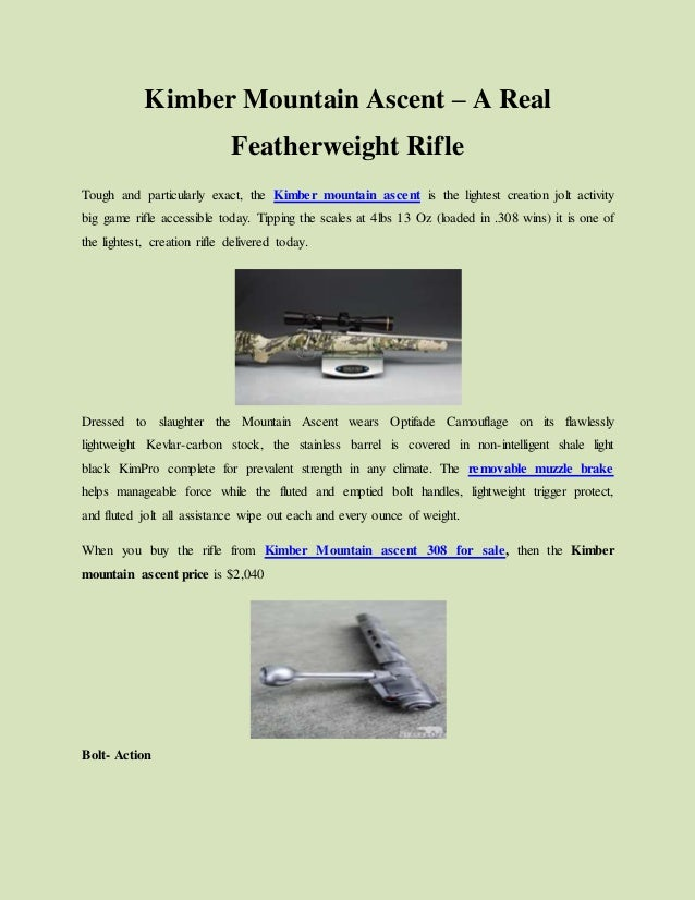 Kimber mountain ascent – a real featherweight rifle