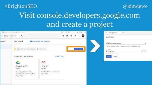 KIM DEWE - How To Automate Key SEO Processes using API's and