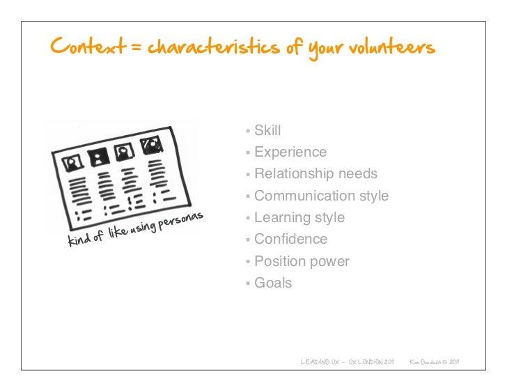 Skill                          Experience                          Relationship needs                          Communicati...