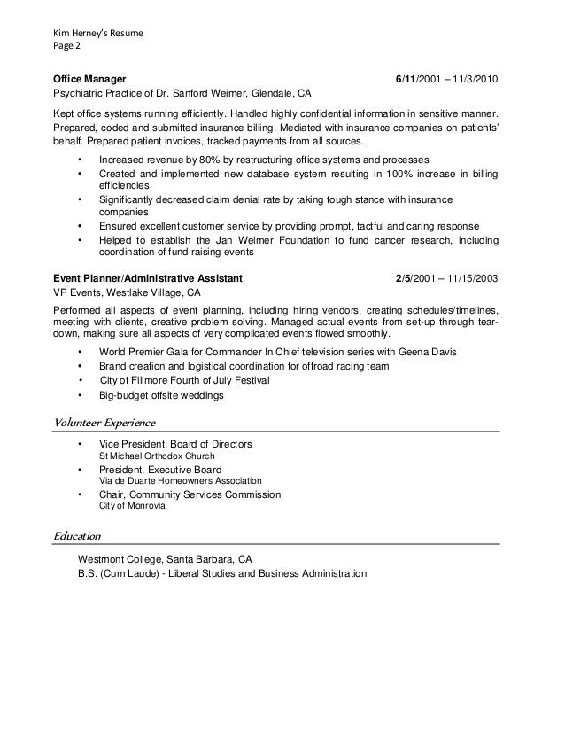executive assistant resume sample executive assistant sample resume  patricia chopin berathen Com