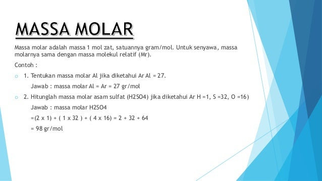 Kimia massa mol, jumlah partikel, dan konsep mol