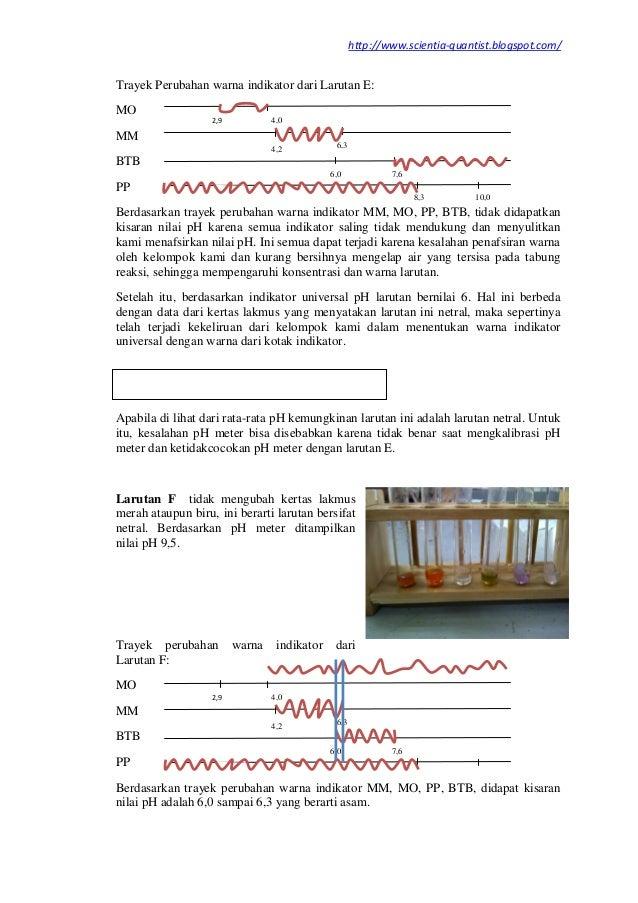 Laporan Praktikum Kimia Indikator Asam Basa