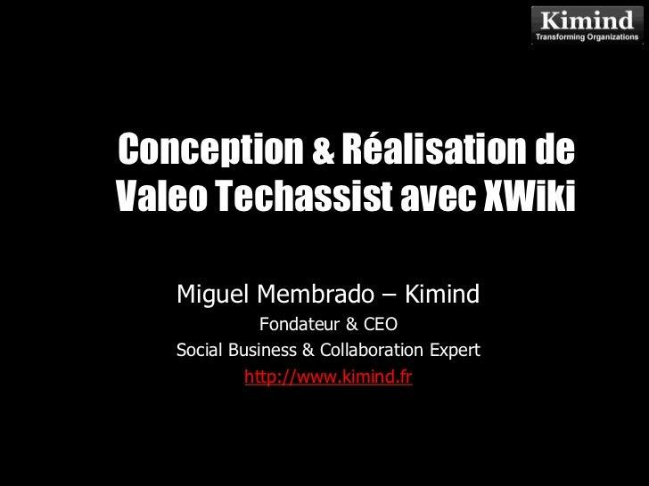 Conception & Réalisation deValeo Techassist avec XWiki             Kimind Consulting   Miguel Membrado – Kimind           ...
