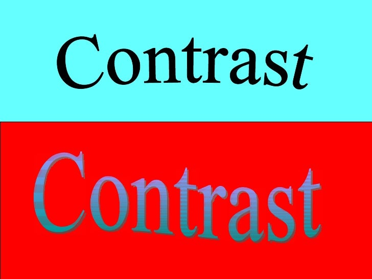 what makes a good powerpoint contrast contrast 6