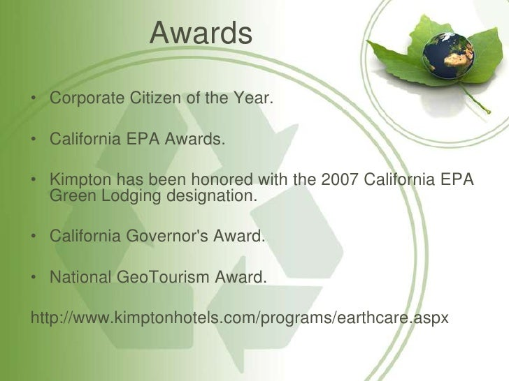 kimpton hotels earthcare program