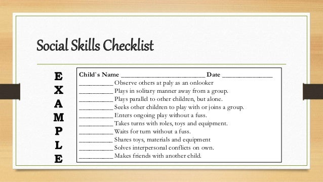 child observation checklist social and emotional This lesson will help you understand how children develop social-emotional skills during the preschool years you will learn about social-emotional milestones and.