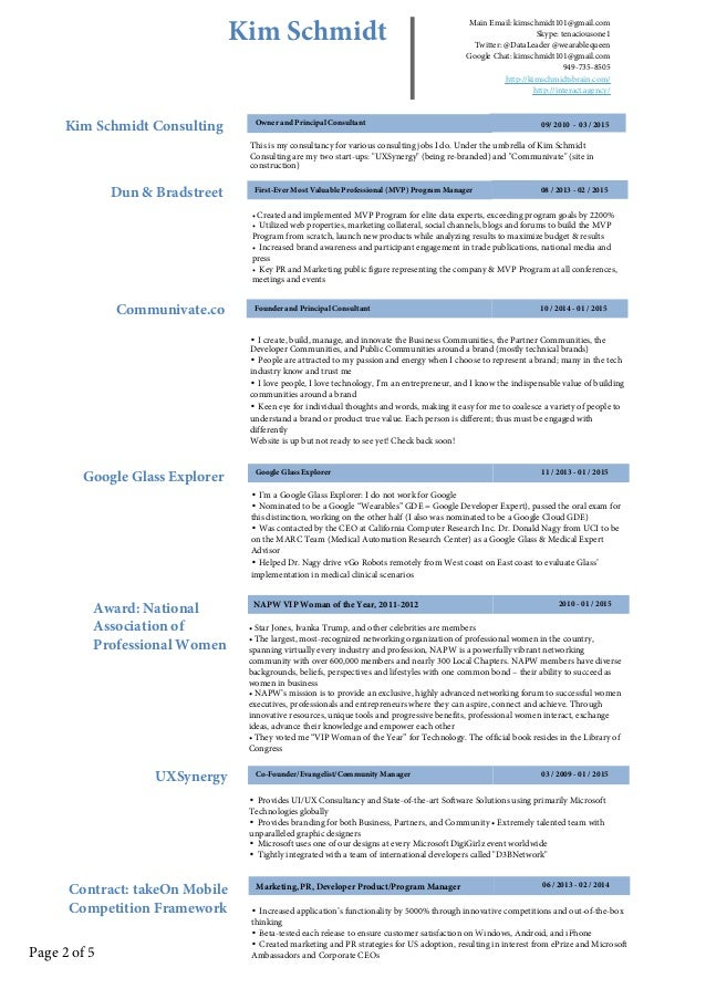 kim schmidt u0026 39 s linkedin resume