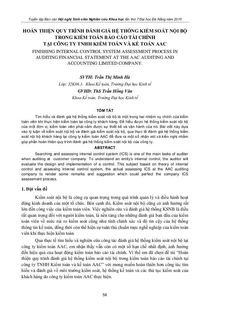 Tuyển tập Báo cáo Hội nghị Sinh viên Nghiên cứu Khoa học lần thứ 7 Đại học Đà Nẵng năm 2010HOÀN THIỆN QUY TRÌNH ĐÁNH GIÁ H...