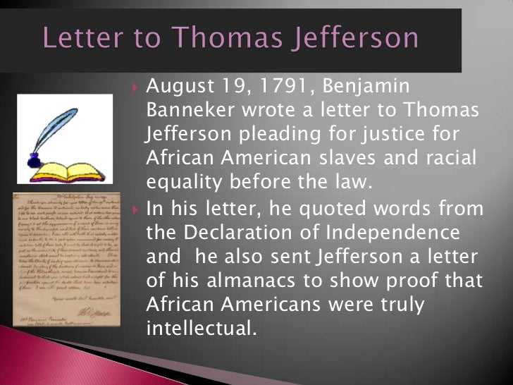 benjamin banneker letter to thomas jefferson p3 4252