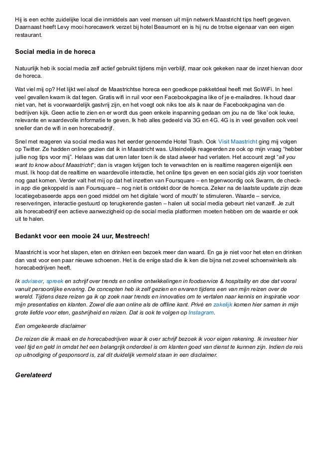 Hij is een echte zuidelijke local die inmiddels aan veel mensen uit mijn netwerk Maastricht tips heeft gegeven. Daarnaast ...