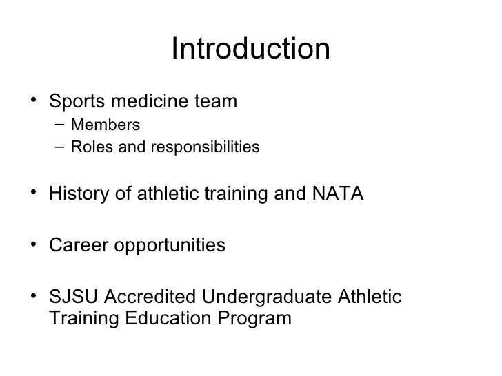 an introduction to the analysis of an athletic trainer The 5 th edition of the athletic training education competencies (competencies) provides educa - tional program personnel and others with the knowledge, skills, and clinical abilities to be mastered by students enrolled in professional athletic training education programs.