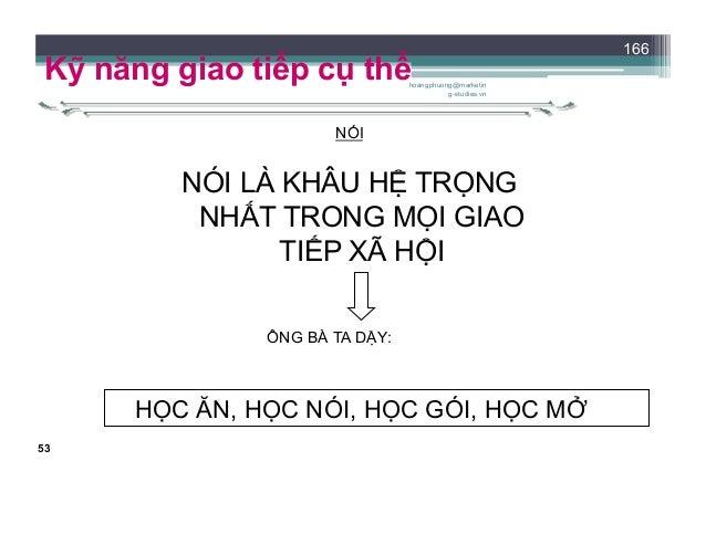 54 Kỹ năng giao tiếp cụ thể NÓI KHÔNG ĐƯỢC NÓI SAI GIAO CẮT THÌ LÀNH, LƯỠI CẮT THÌ KHÔNG. Tục ngữ Việt Nam SUỐT ĐỜI LÀM LÀ...