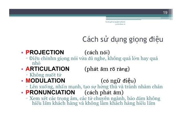 19 Cách sử dụng giọng điệu hoangphuong@marketin g-studies.vn