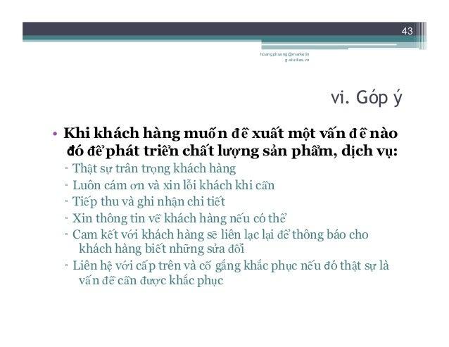 44 6. Thực tập các tình huống hoangphuong@marketin g-studies.vn