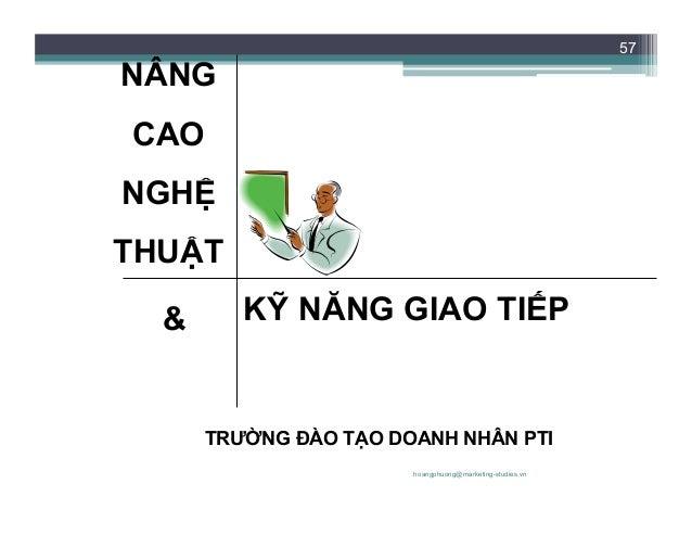 NÂNG CAO NGHỆ THUẬT VÀ KỸ NĂNG GIAO TIẾP