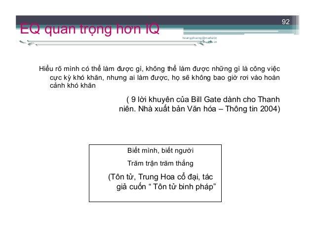 GIAO TIẾP TRONG HOẠT ĐỘNG NGHỀ NGHIỆP HIỆN ĐẠI hoangphuong@marketin g-studies.vn 93