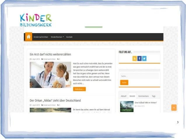 Gemeinnütziges Kinderbildungswerk: Unsere Mission Slide 3