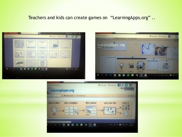 """Teachers and kids can create games on """"LearningApps.org"""" .."""