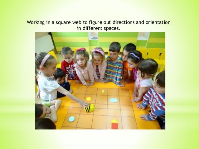 Working in a square web to figure out directions and orientation in different spaces.