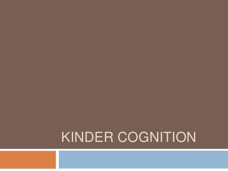 Kinder cognition<br />