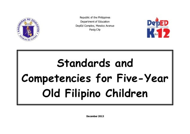 Republic of the Philippines Department of Education DepEd Complex, Meralco Avenue Pasig City December 2013 Standards and C...