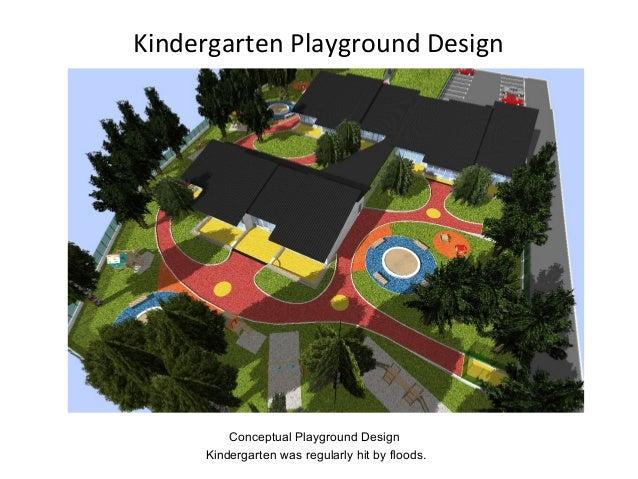 Kindergarten Playground Design Conceptual Playground Design Kindergarten was regularly hit by floods.