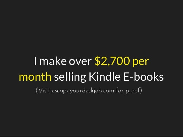 How I've Published 100s of E-books Without Writing a Single Word Slide 2