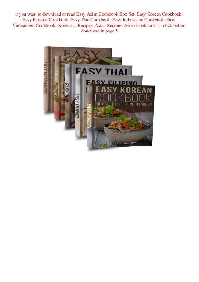 Kindle Online Pdf Easy Asian Cookbook Box Set Easy Korean Cookbook