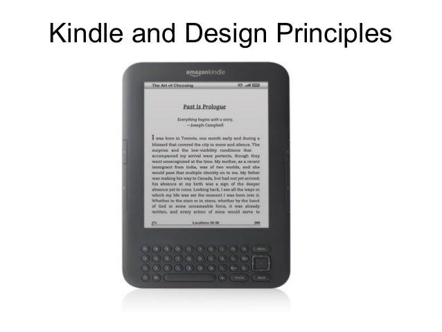 Kindle and Design Principles