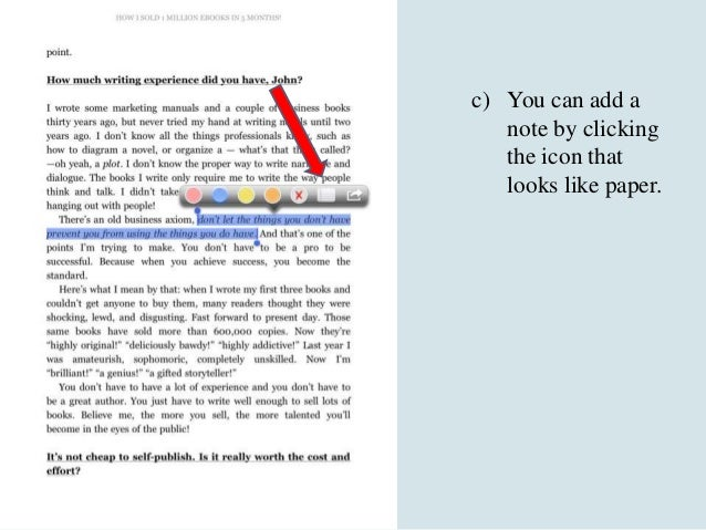 Kindle App Tips for IPad