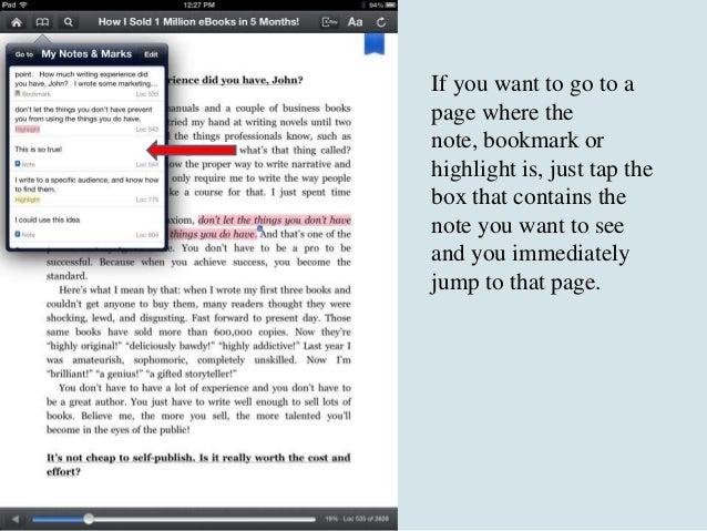 Kindle App Tips For Ipad