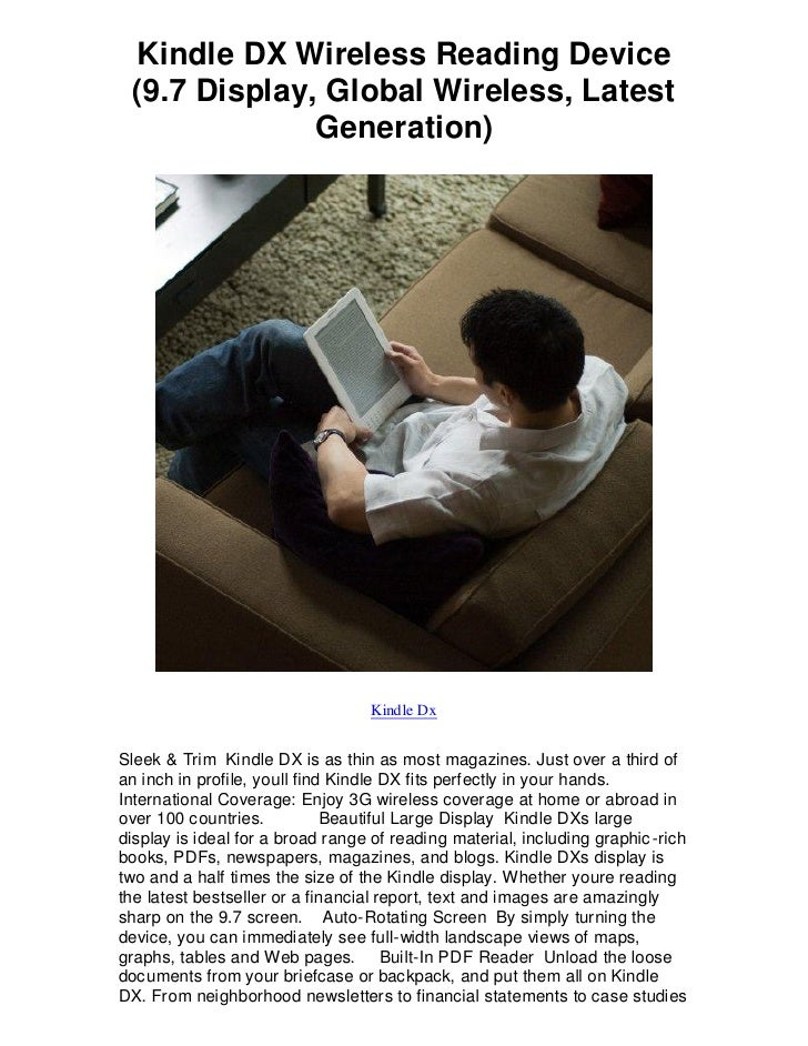 Kindle DX Wireless Reading Device  (9.7 Display, Global Wireless, Latest               Generation)                        ...