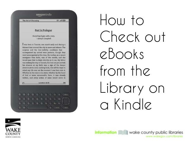 how to check out books on a kindle