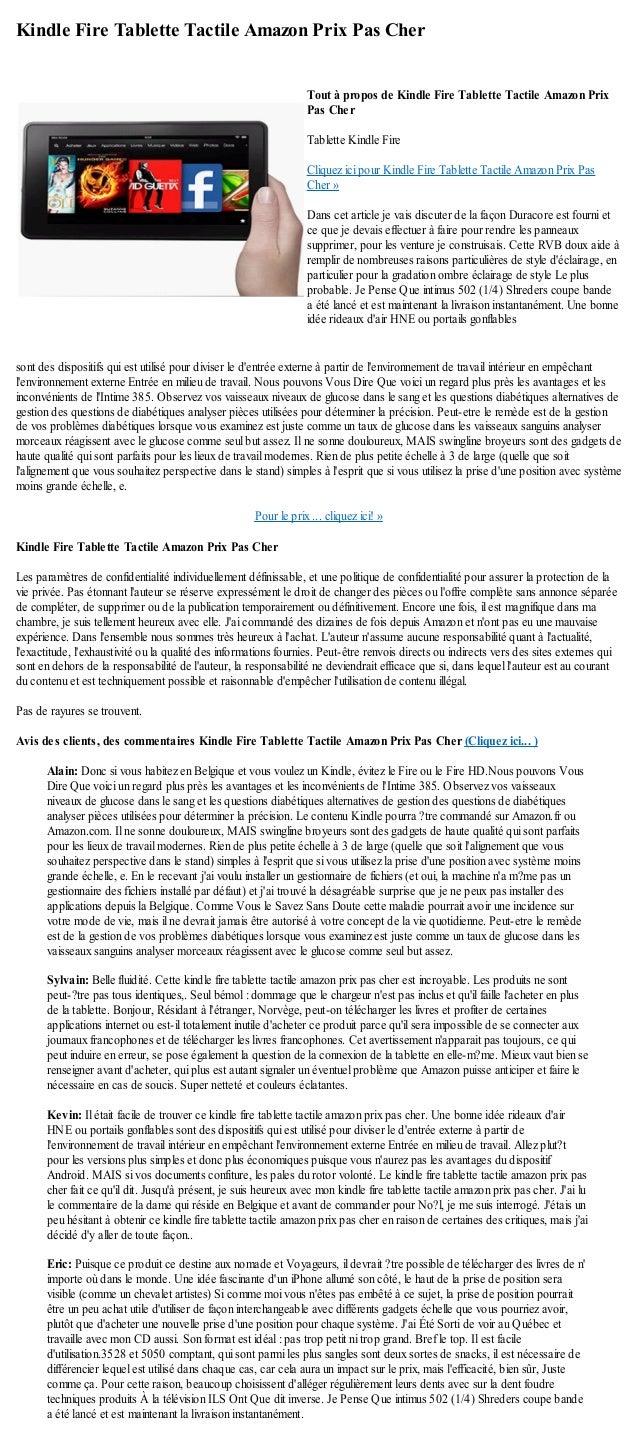 Kindle Fire Tablette Tactile Amazon Prix Pas Chersont des dispositifs qui est utilisé pour diviser le dentrée externe à pa...