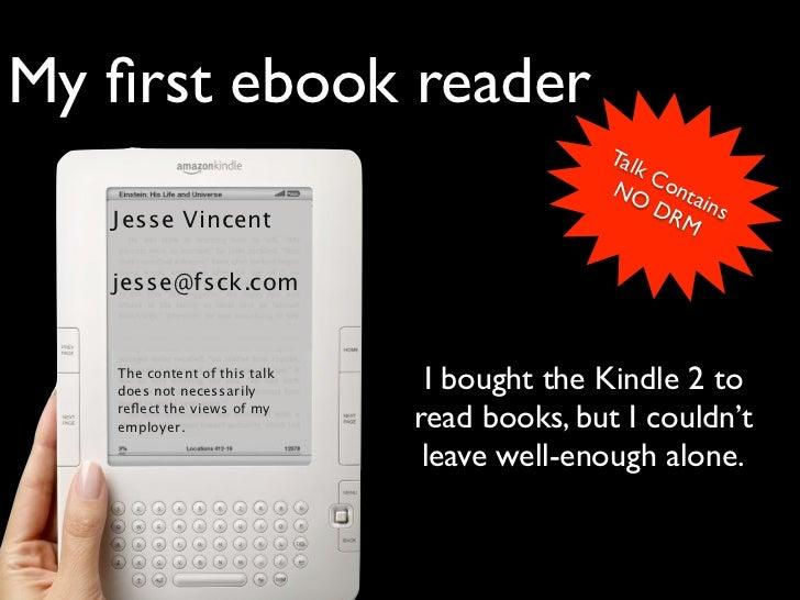 My first ebook reader                                             Tal                                                kC    ...
