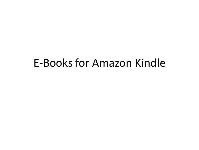 E-Books for Amazon Kindle