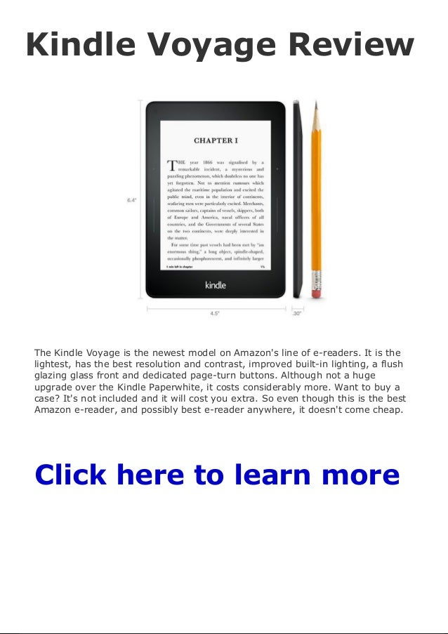 Kindle voyage review