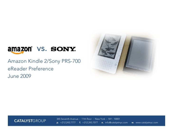 Kindle Vs Sony Reader: Kindle V Sony