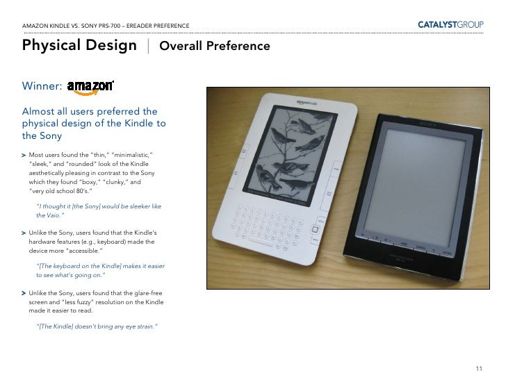 Kindle Vs Sony Reader: Kindle Vs Sony