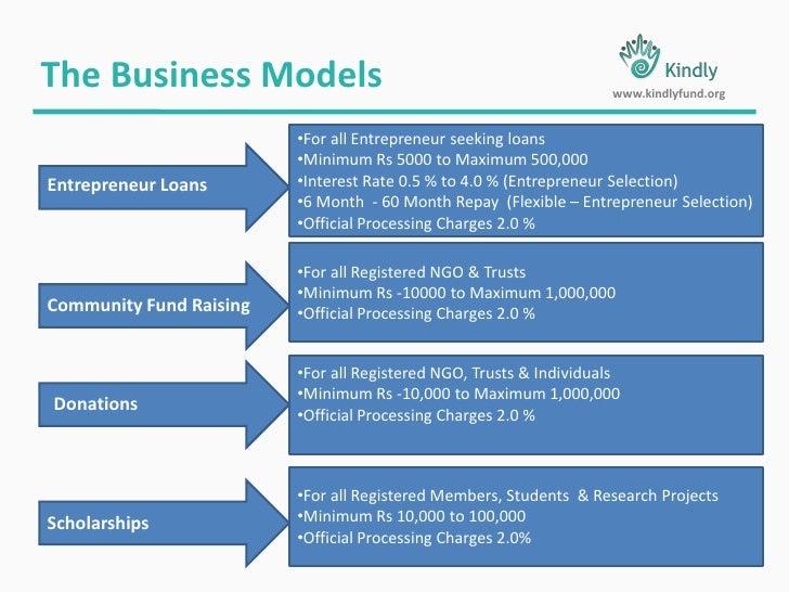 The Business Models<br />www.kindlyfund.org<br /><ul><li>For all Entrepreneur seeking loans