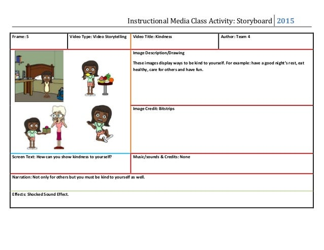 Kindness Storyboard Template