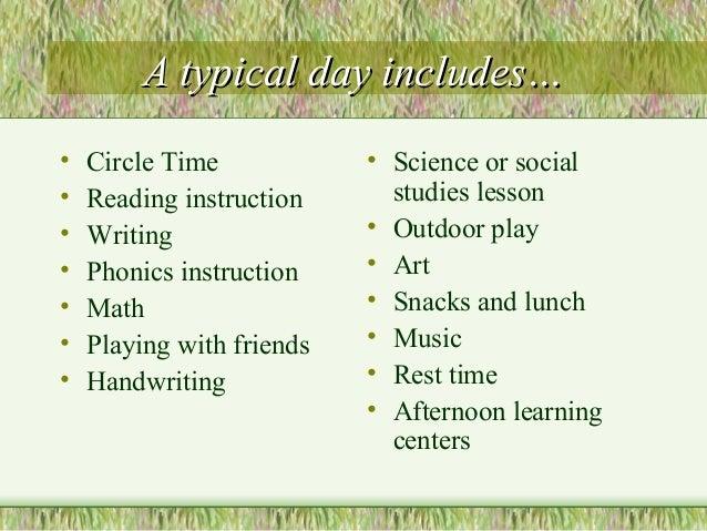 Kindergarten Overview Slide 2