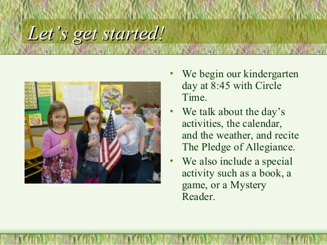 Kindergarten Overview Slide 3