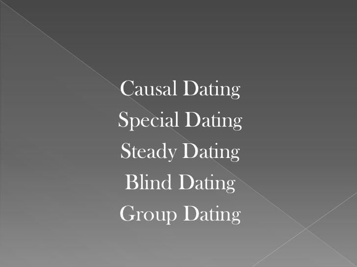 Types of dating styles