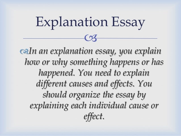 kind of essays explanation essay 12  example