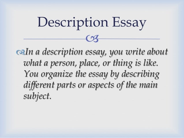 compilation of the different kinds of essay