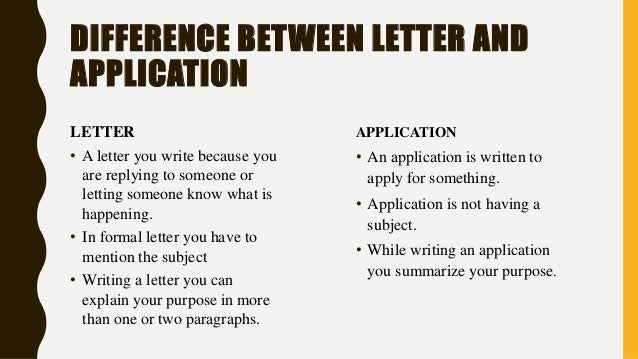 The difference between application letter and cover letter for What is the difference between cv and cover letter