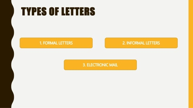 english correspondence kinds of letters