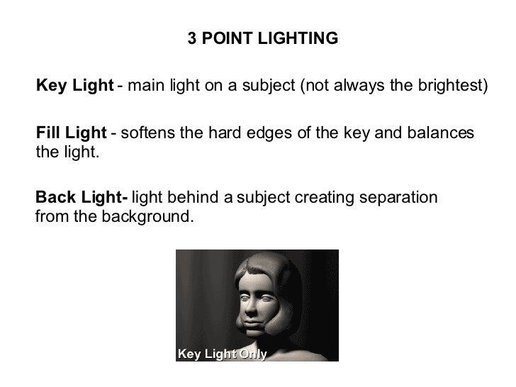 types of lighting in film