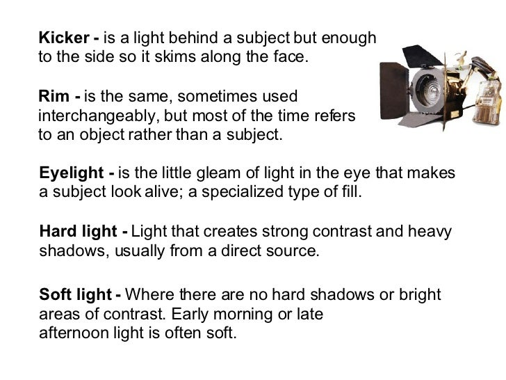 type of lighting. 2. type of lighting e